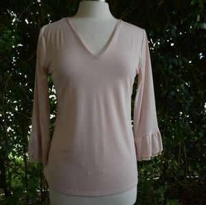 Calvin Klein champagne pink long sleeve pullover